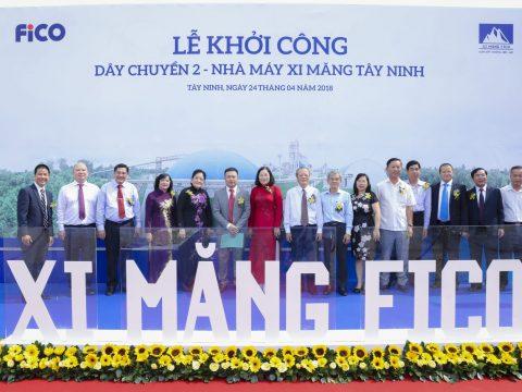 Lễ khởi công xây dựng dây chuyền 2 nhà máy xi măng FiCO Tây Ninh