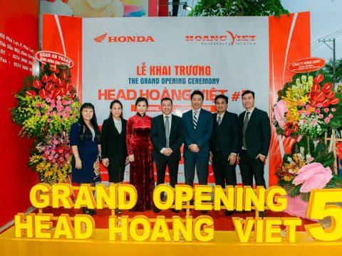 """Tưng bừng buổi lễ khai trương đón mừng """"Đứa con thứ 5"""" của Honda Head Hoàng Việt"""