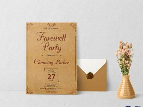 Mẫu thiết kế thư mời Year End Party sáng tạo