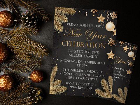 Hướng dẫn cách thiết kế thư mời tiệc tân niên ấn tượng cho doanh nghiệp
