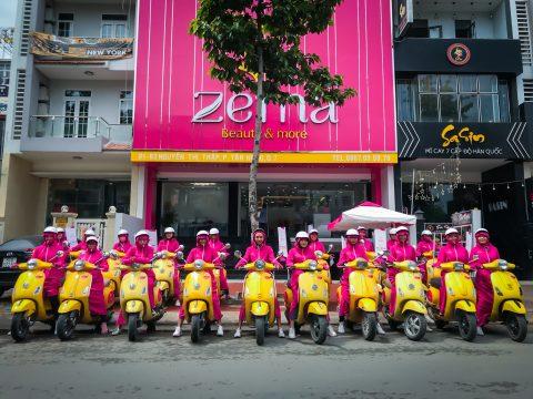 """Tổ chức Roadshow Thẩm mỹ viện ZEMA với hành trình """"tô vàng, điểm hồng"""" trên khắp các cung đường"""