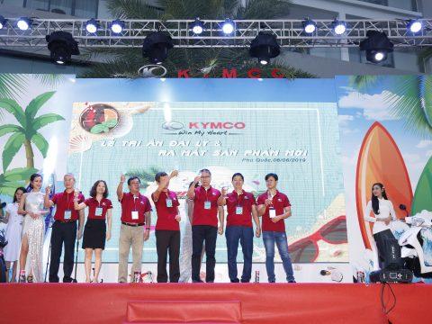 """""""Lễ tri ân Đại lý và Ra mắt sản phẩm mới"""" – Chào đón dòng xe Candy Hermosa 50 KYMCO tại Phú Quốc"""